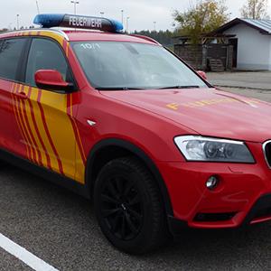Fire brigade emergency vehicle